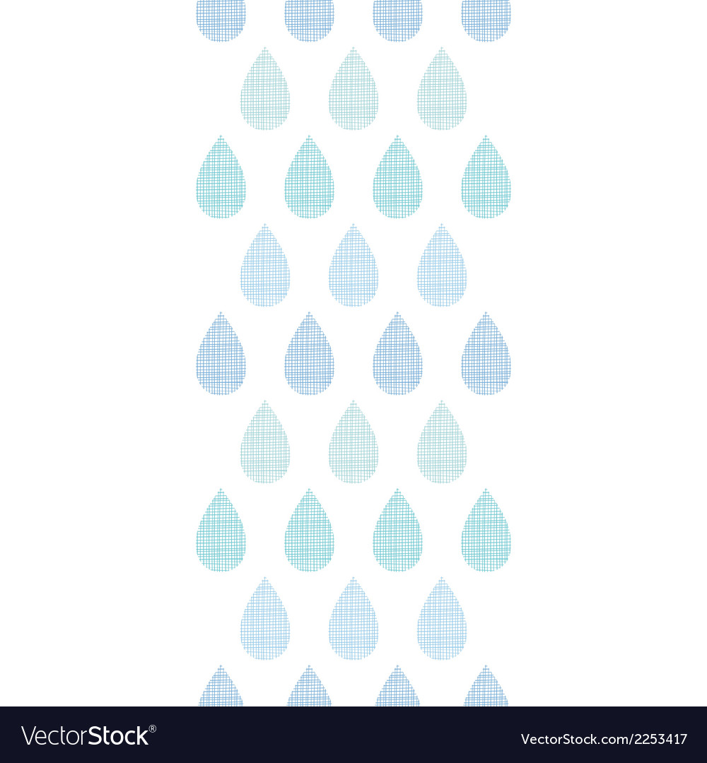 Abstract textile blue rain drops stripes vertical vector | Price: 1 Credit (USD $1)
