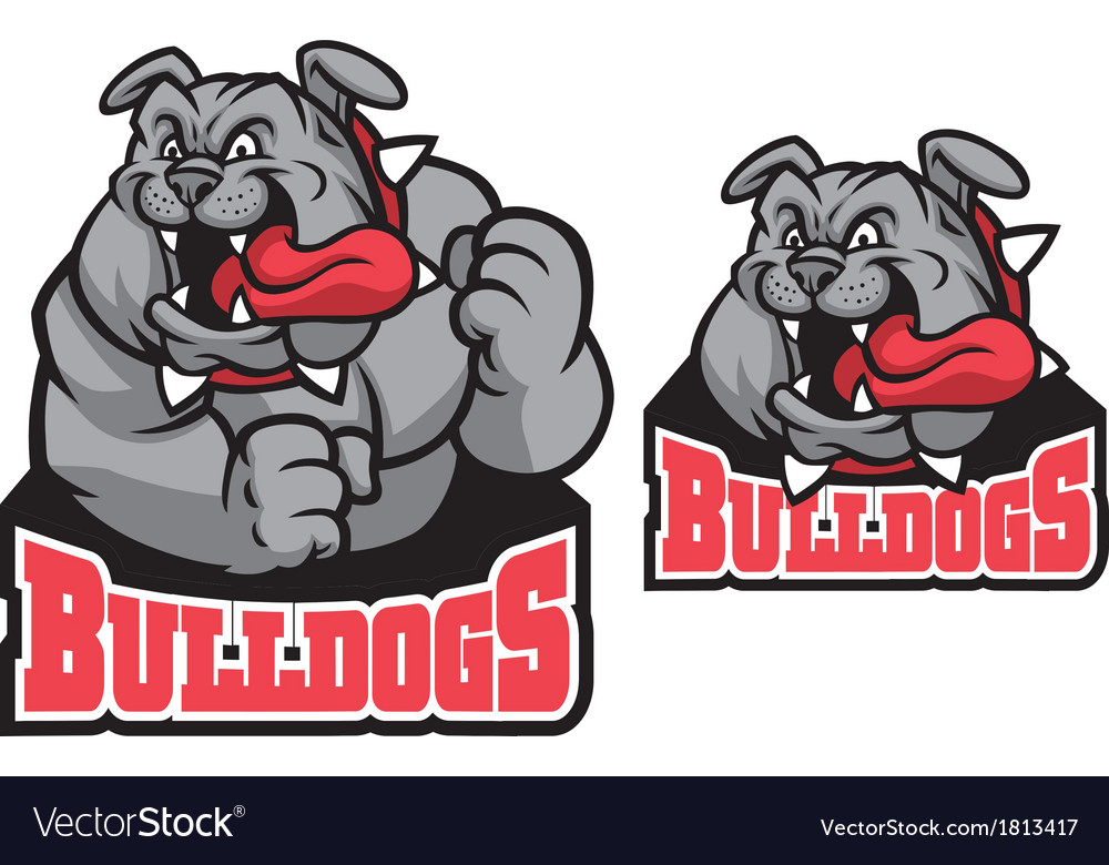 Bulldog mascot vector | Price: 1 Credit (USD $1)