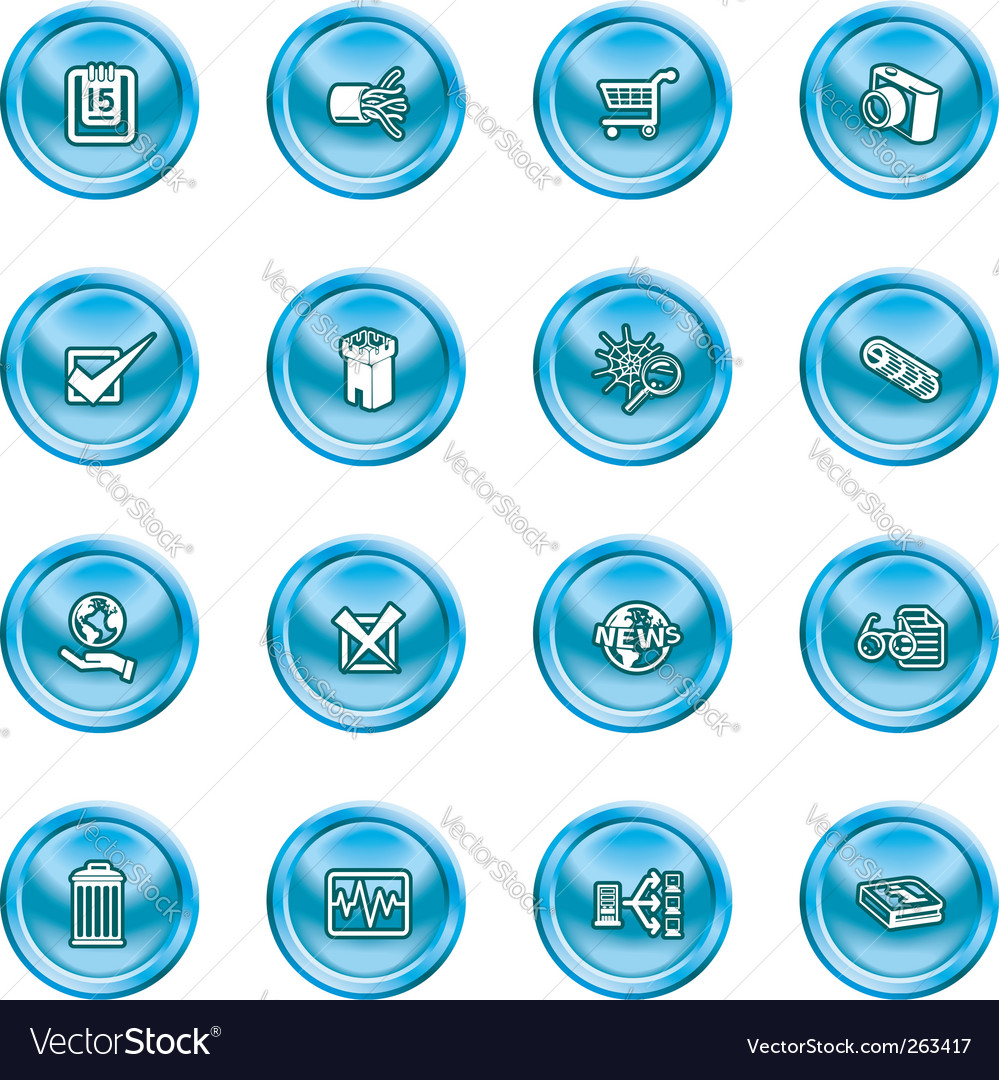 Computer and web icons vector | Price: 1 Credit (USD $1)