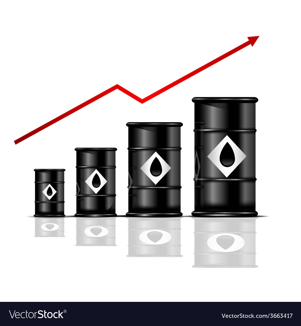 Depicting the dynamics of growth in oil prices vector | Price: 1 Credit (USD $1)