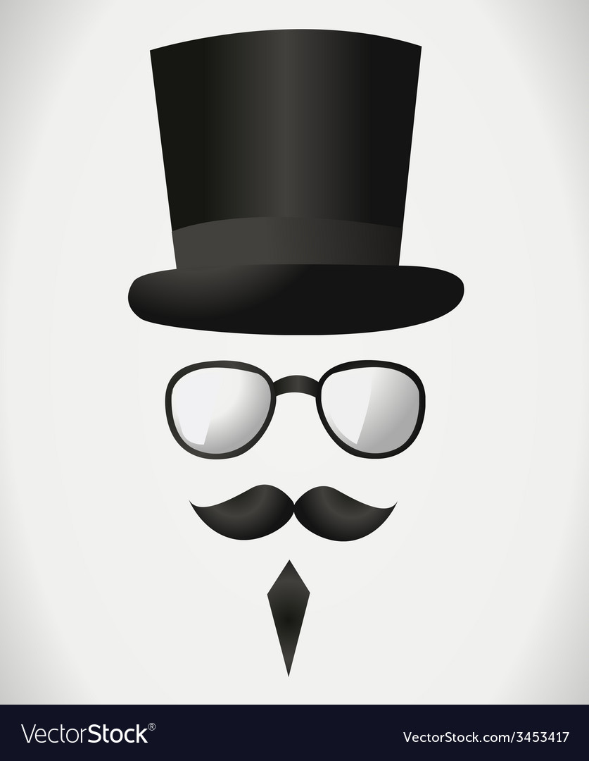 Fancy man with glasses vector | Price: 1 Credit (USD $1)