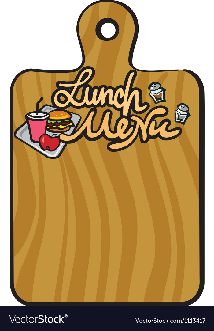 Lunch menu vector | Price: 1 Credit (USD $1)