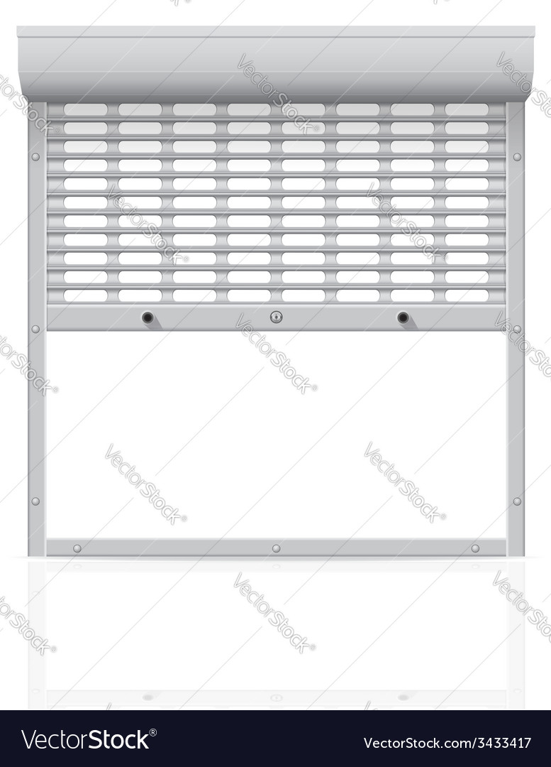 Metal perforated rolling shutters 02 vector | Price: 1 Credit (USD $1)