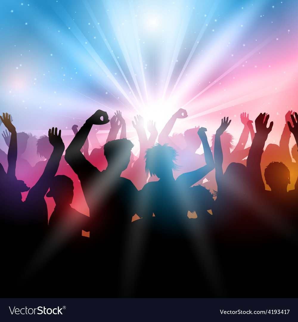 Party crowd background vector | Price: 1 Credit (USD $1)