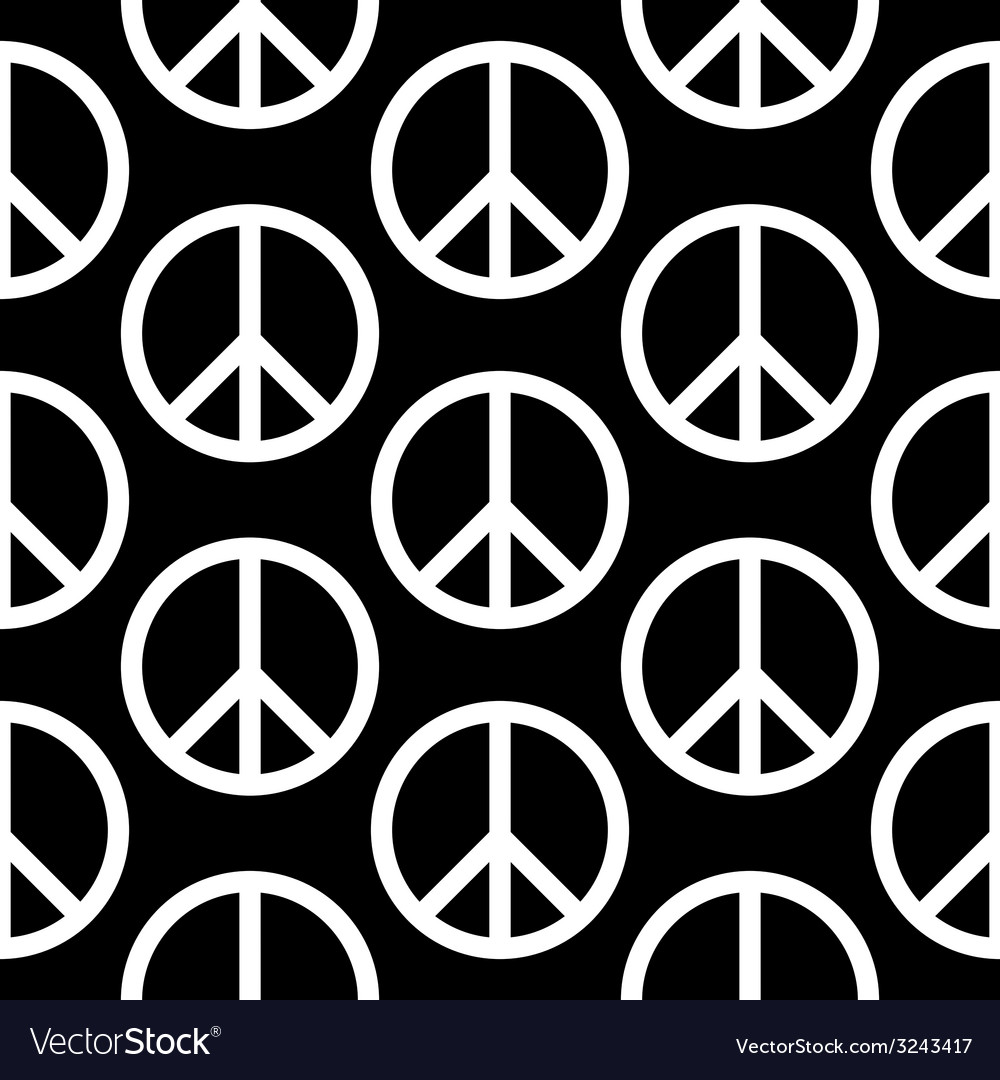 Peace symbol seamless pattern vector | Price: 1 Credit (USD $1)