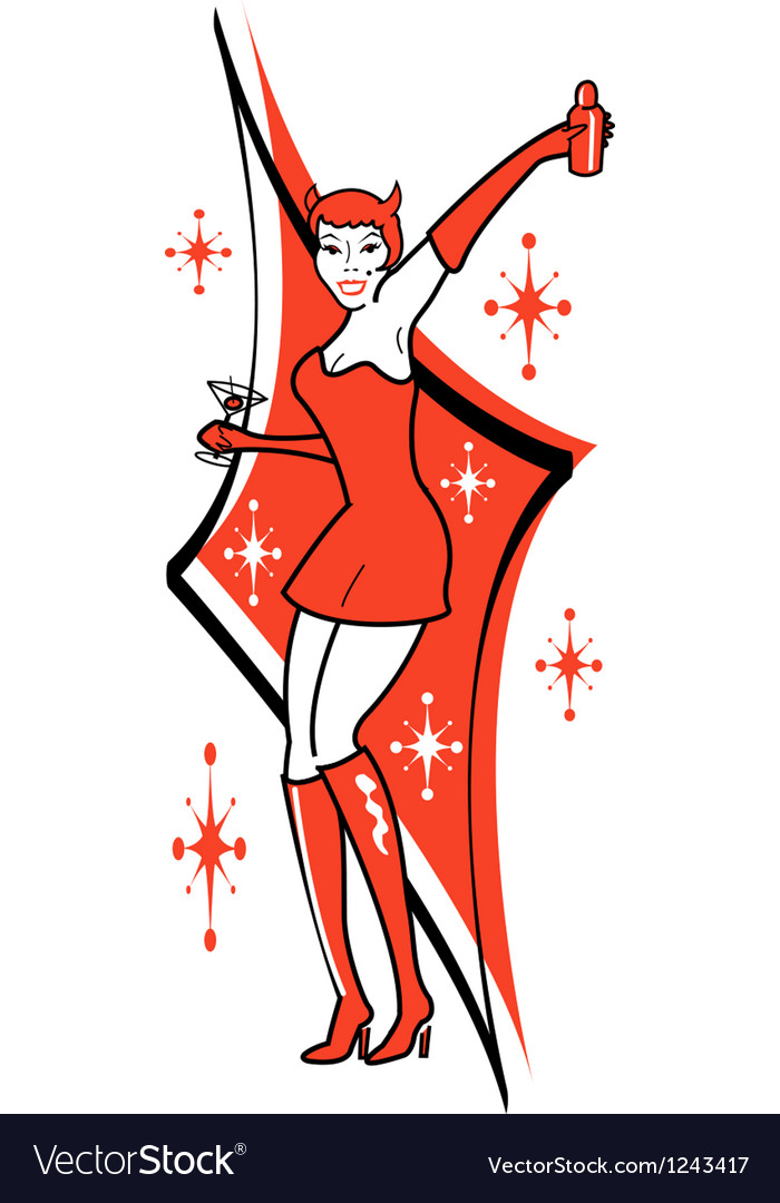 Pin up she devil vector | Price: 1 Credit (USD $1)