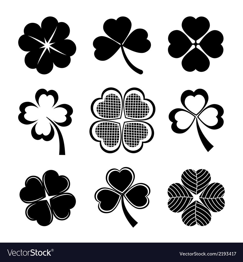 Shamrock and four leaf clover vector | Price: 1 Credit (USD $1)