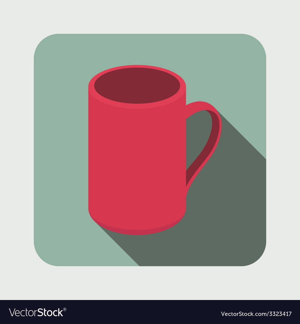 Tea mug flat icon vector | Price: 1 Credit (USD $1)