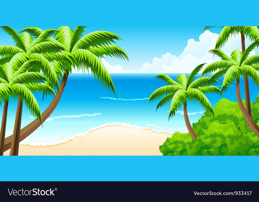 Tropical background vector | Price: 3 Credit (USD $3)