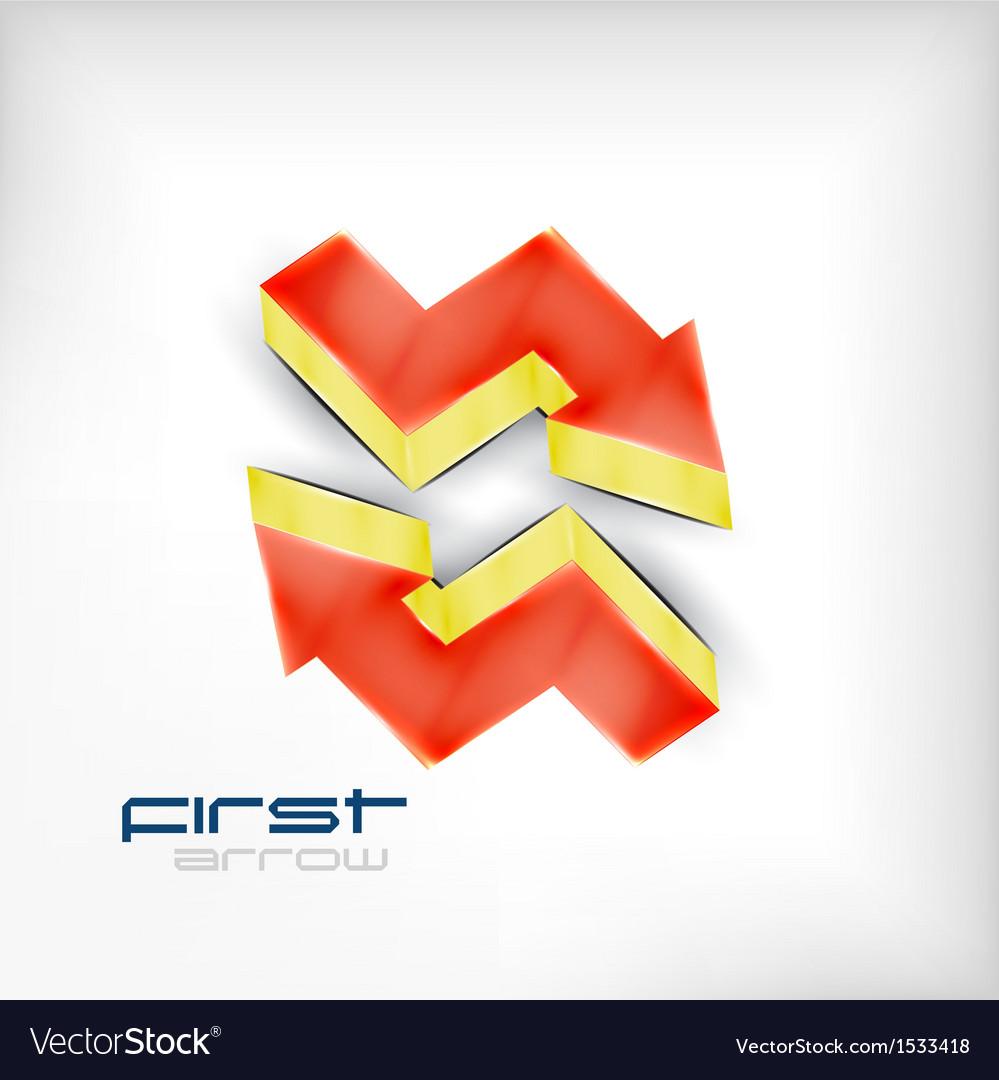 3d arrow background vector | Price: 1 Credit (USD $1)