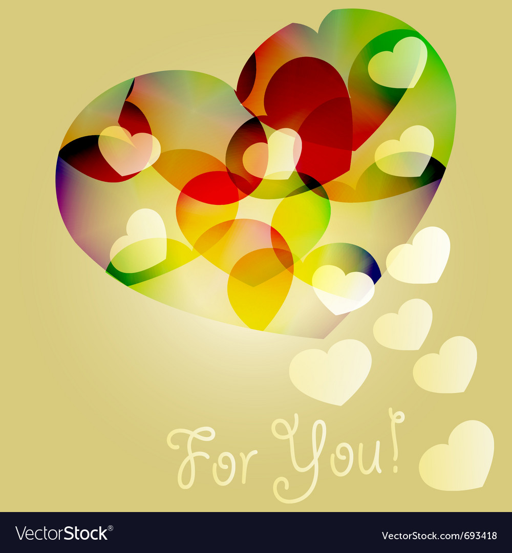Bright hearts vector | Price: 1 Credit (USD $1)