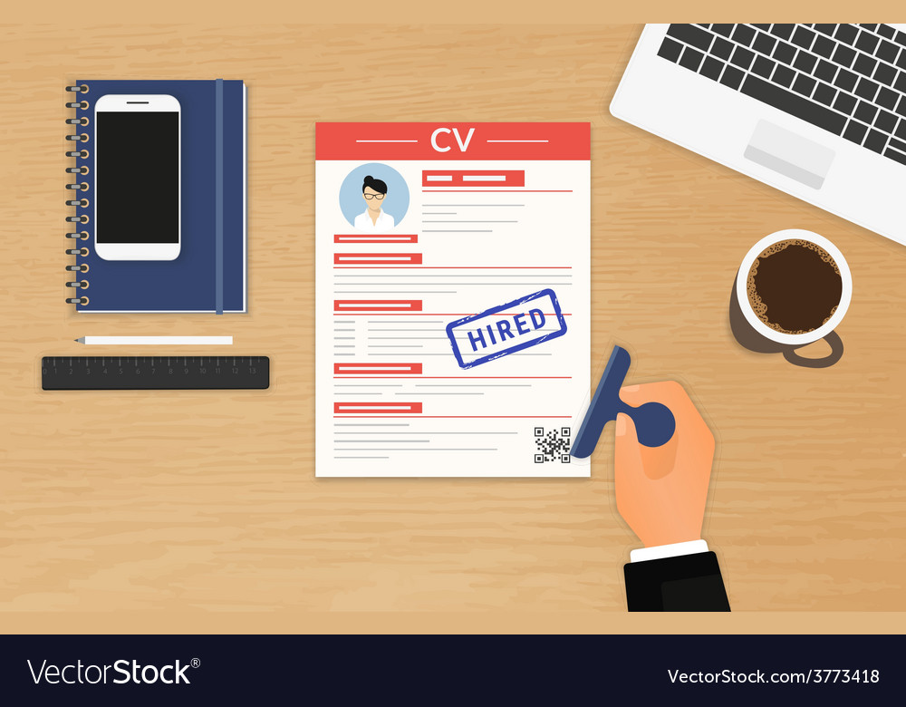 Businessman accepted cv vector | Price: 1 Credit (USD $1)
