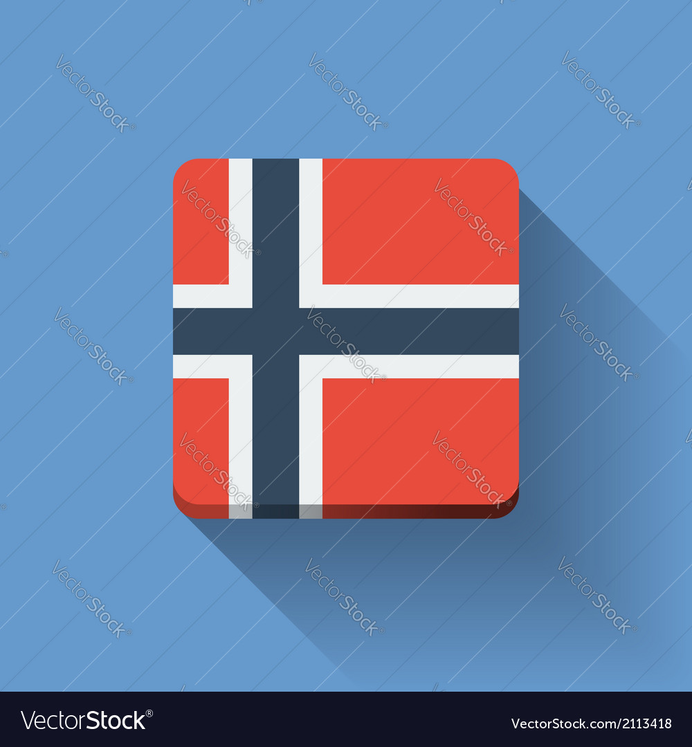 Button with flag of norway vector | Price: 1 Credit (USD $1)