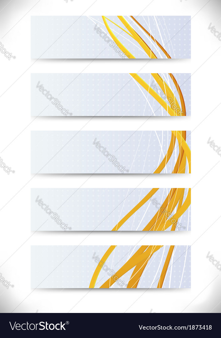 Collection of business cards with golden lines vector | Price: 1 Credit (USD $1)