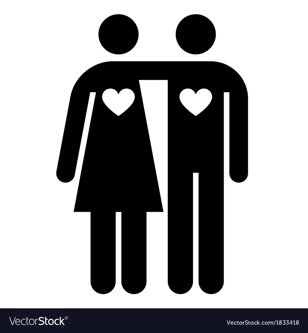 Couple with hearts shape vector | Price: 1 Credit (USD $1)