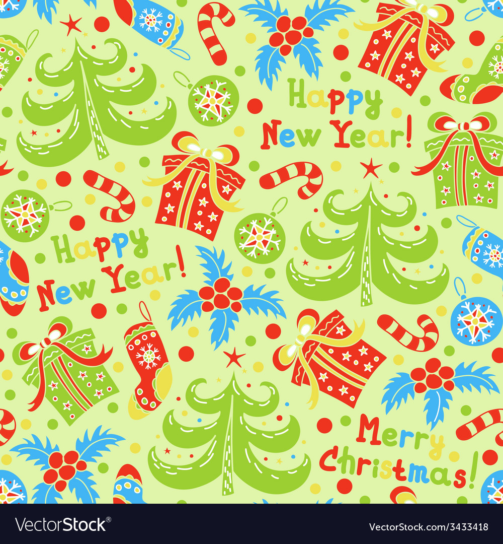 Happy new year and christmas vector | Price: 1 Credit (USD $1)