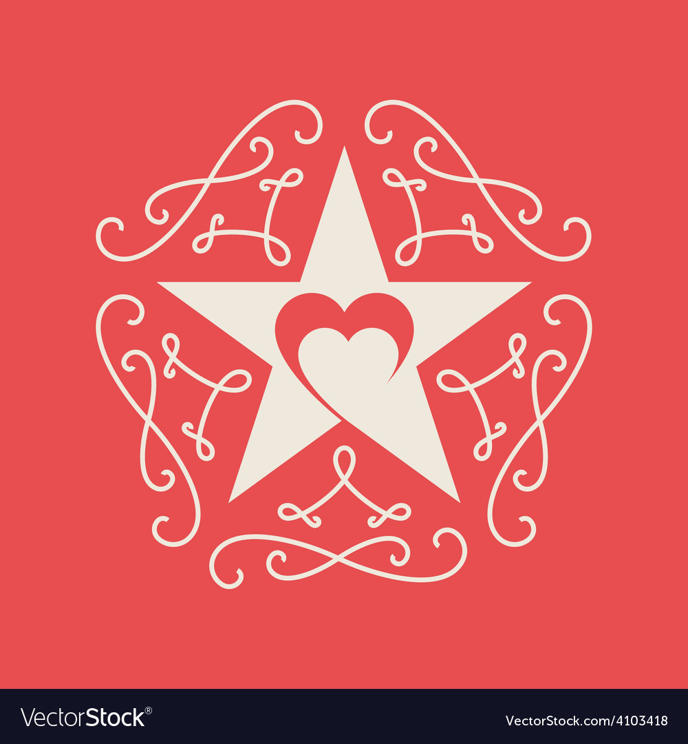 Happy valentines day card with ornaments heart and vector | Price: 1 Credit (USD $1)
