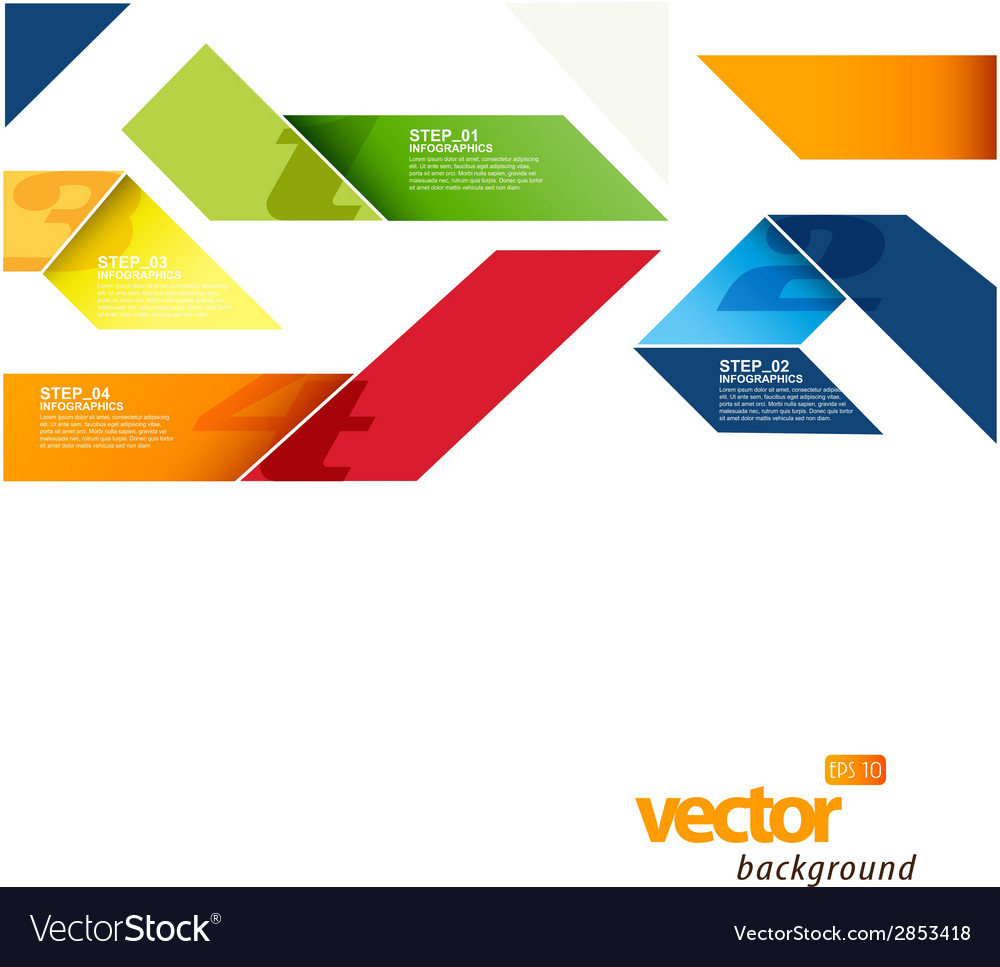 Infographic template with stripes and place for vector | Price: 1 Credit (USD $1)