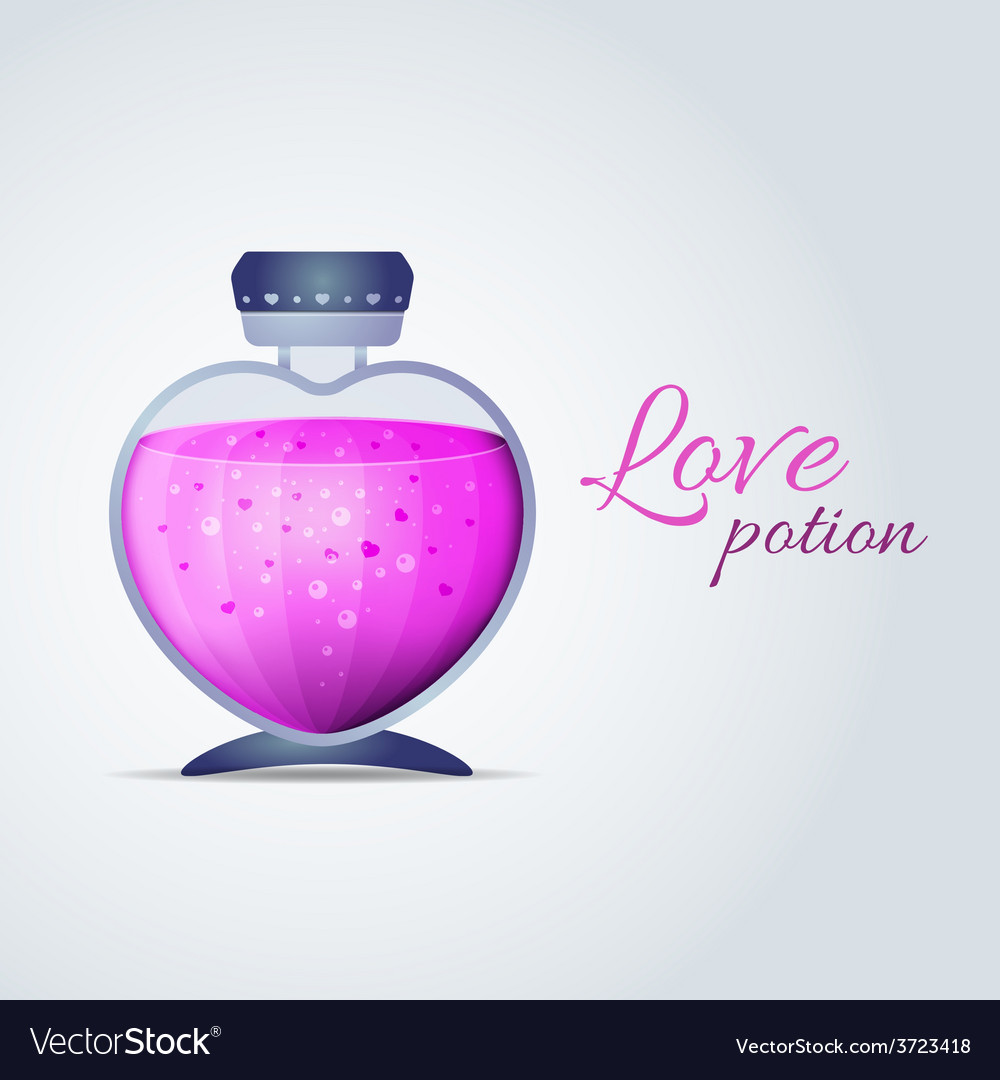 Love potion for valentines day cards vector | Price: 1 Credit (USD $1)