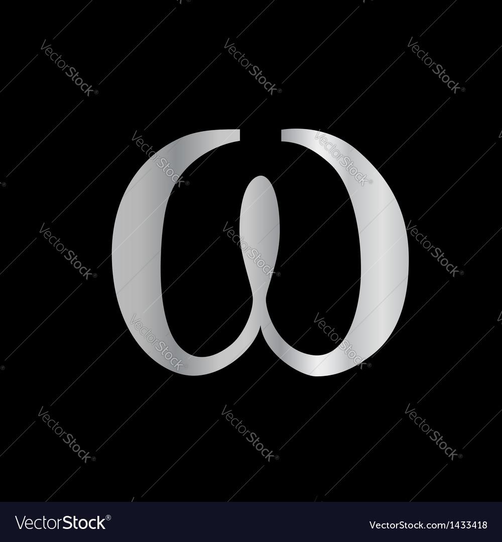 Omega symbol vector