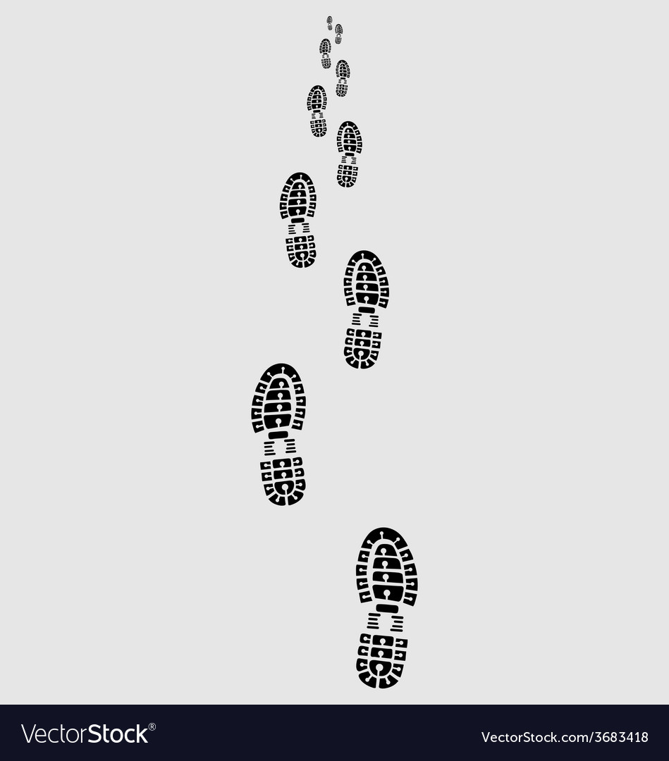 Prints of shoes 2 vector | Price: 1 Credit (USD $1)