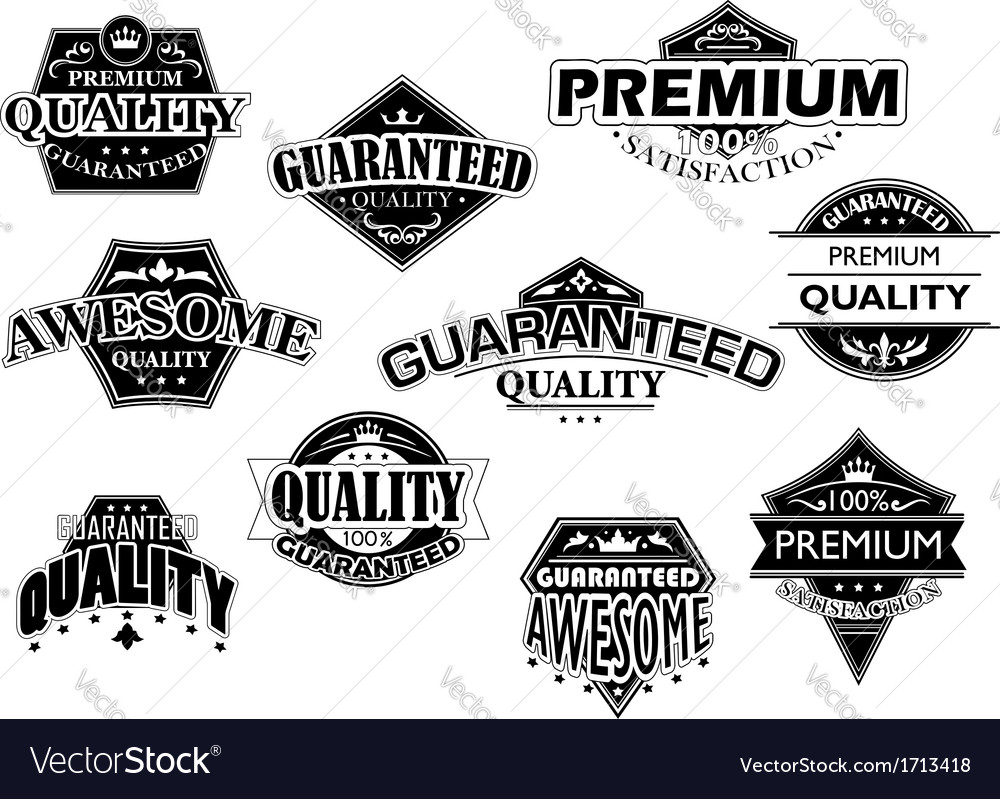 Retro labels and banners set vector | Price: 1 Credit (USD $1)