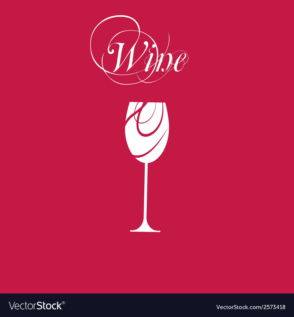 Sparkling wineglasses with wine vector | Price: 1 Credit (USD $1)