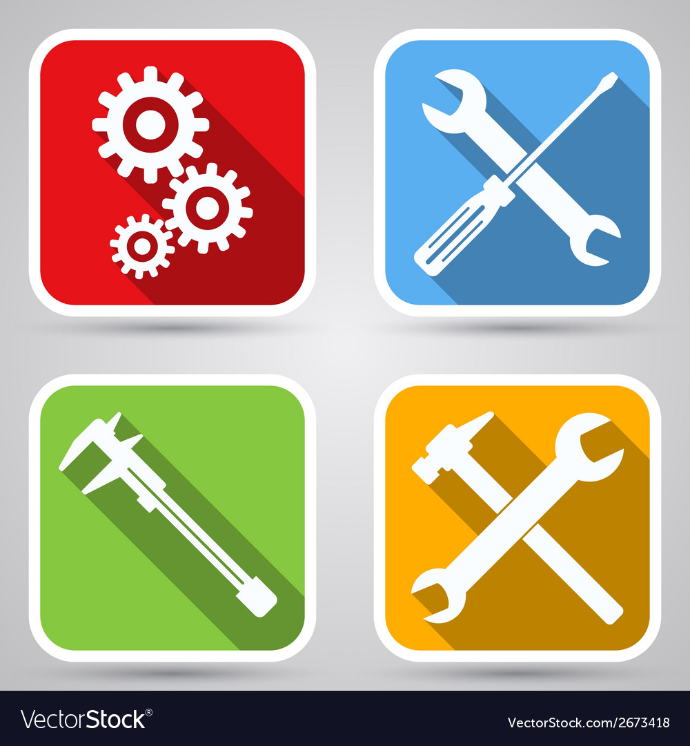Tools icon collection vector   Price: 1 Credit (USD $1)