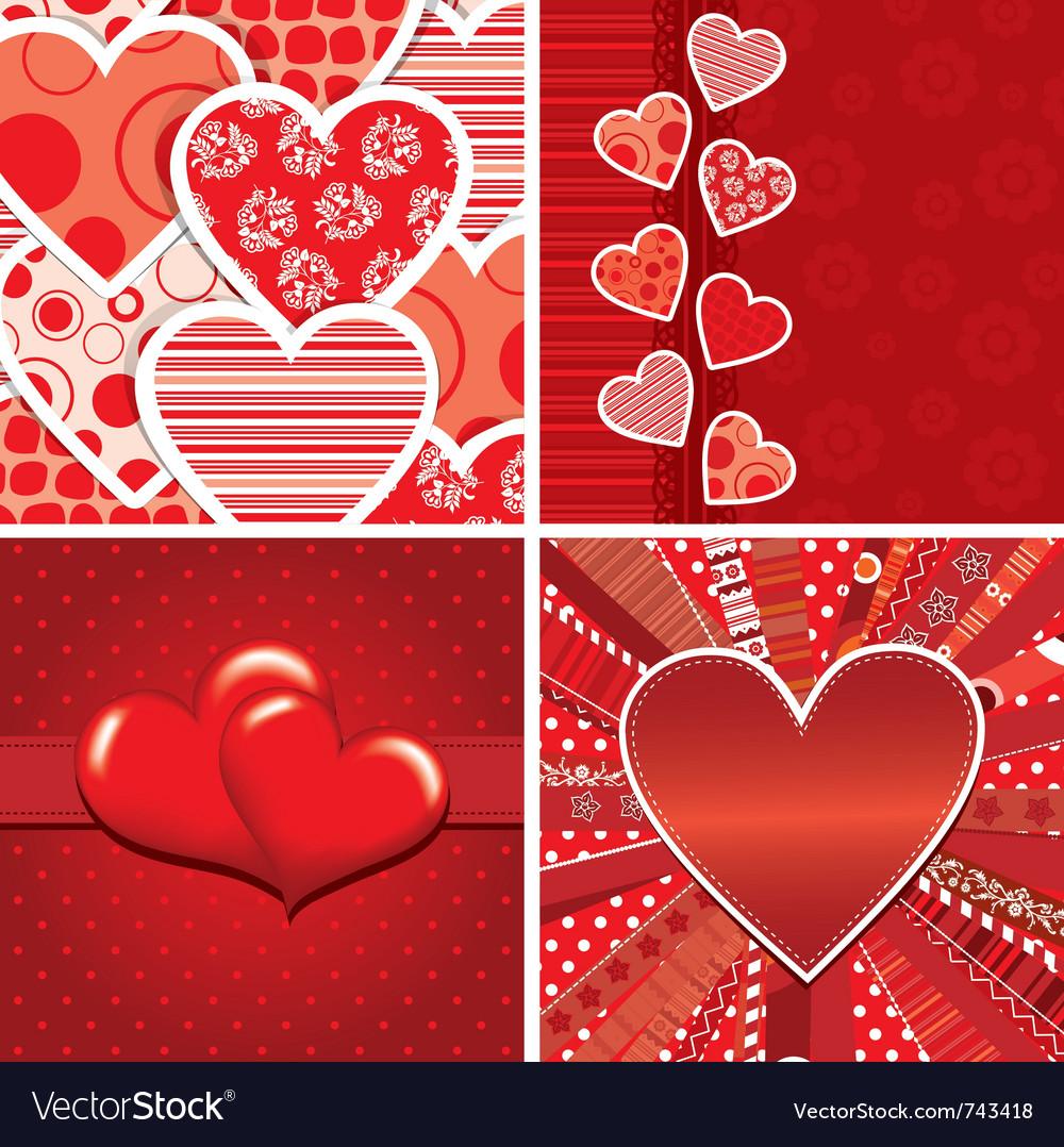 Valentine heart pattern vector | Price: 1 Credit (USD $1)