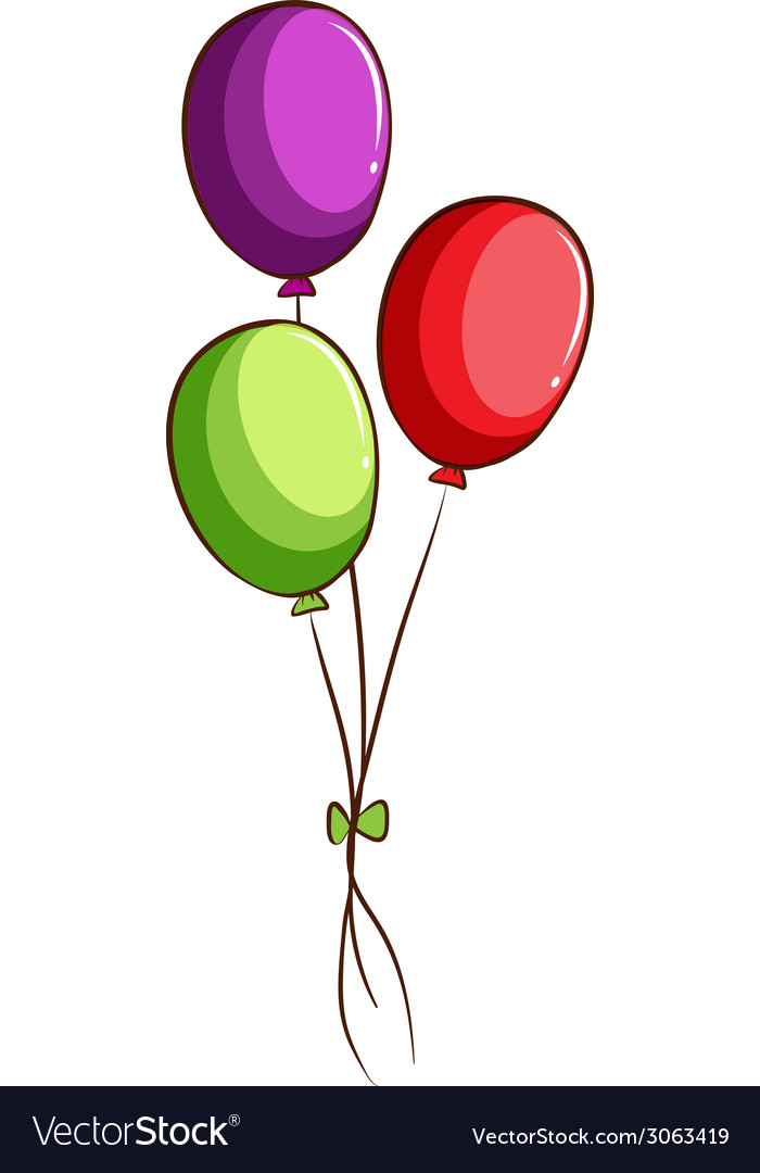 A simple sketch of the balloons vector | Price: 1 Credit (USD $1)