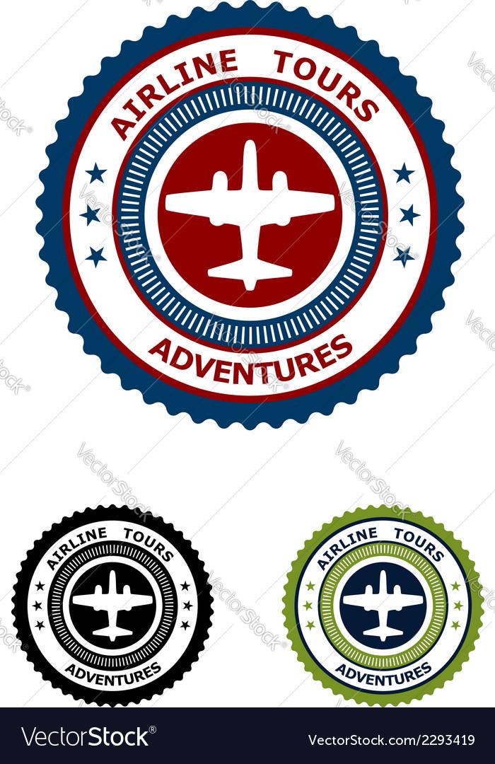 Airlines tour adventures symbol vector | Price: 1 Credit (USD $1)
