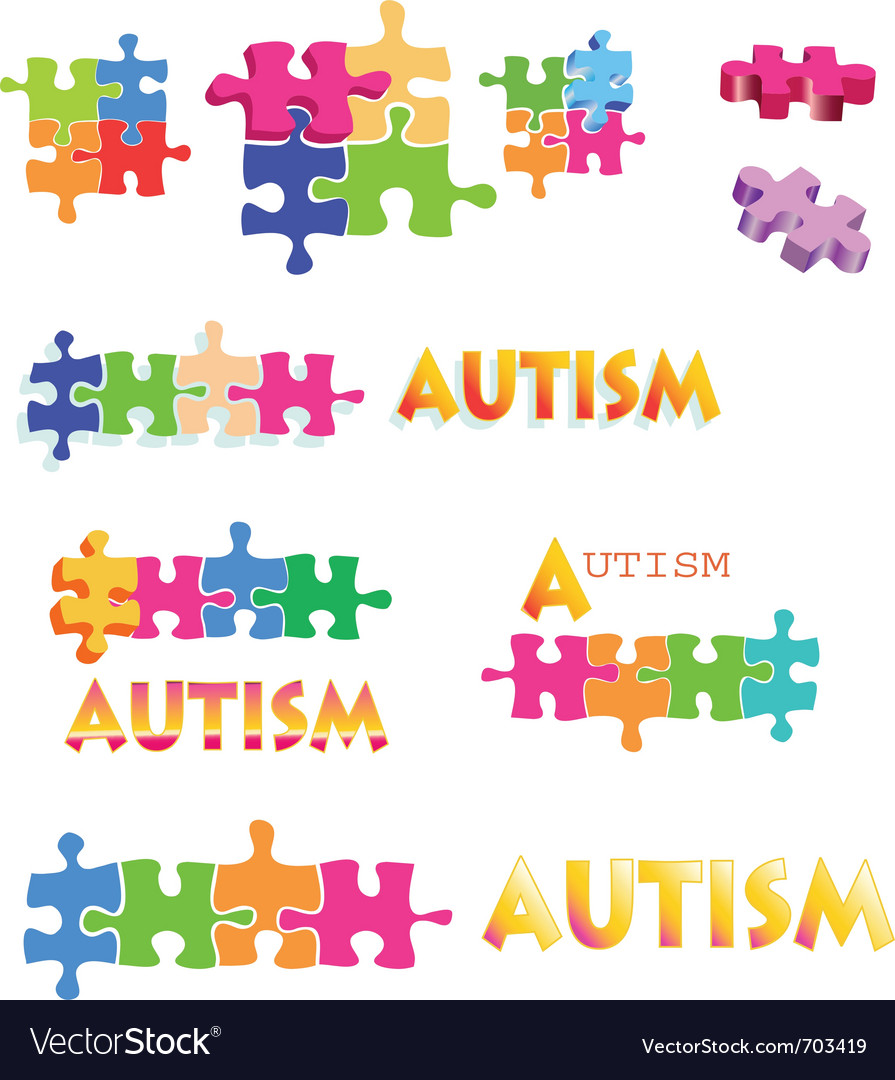 Autism puzzle piece vector | Price: 1 Credit (USD $1)