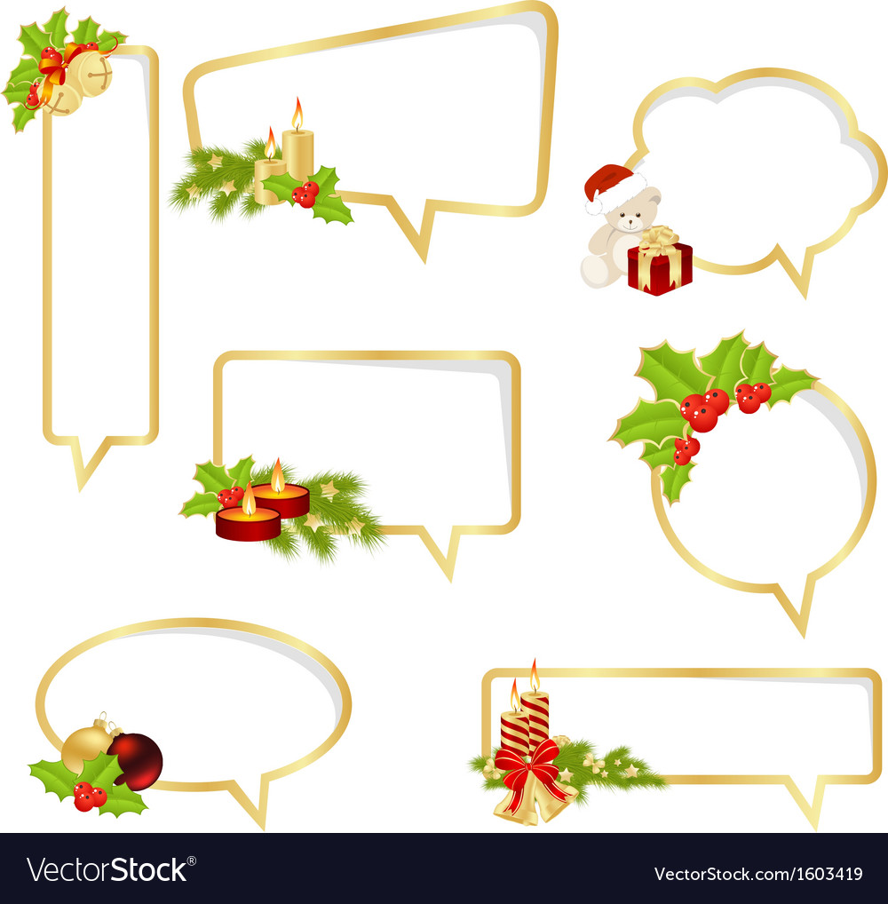 Bubble speech christmas vector | Price: 1 Credit (USD $1)