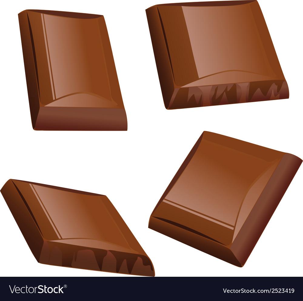 Chocolate piece vector | Price: 1 Credit (USD $1)