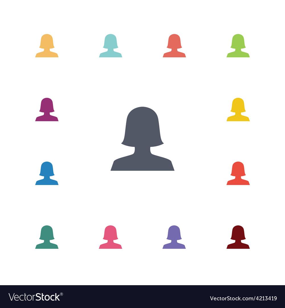 Female flat icons set vector | Price: 1 Credit (USD $1)