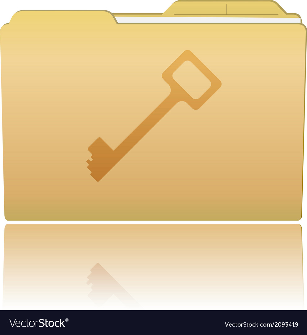 Folder with key vector | Price: 1 Credit (USD $1)