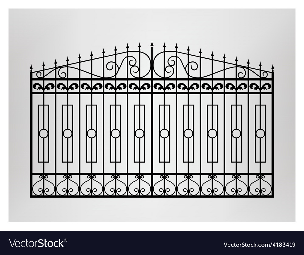 Forged gate vector | Price: 1 Credit (USD $1)