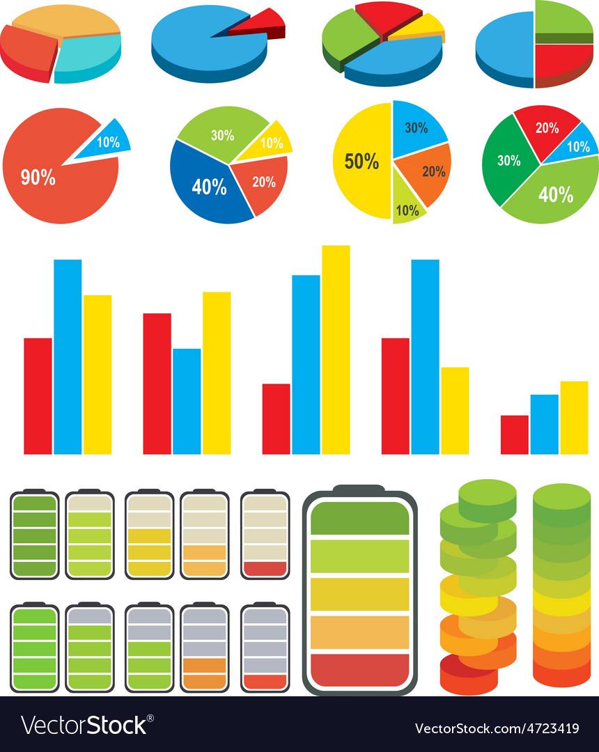 Graphs charts vector | Price: 1 Credit (USD $1)