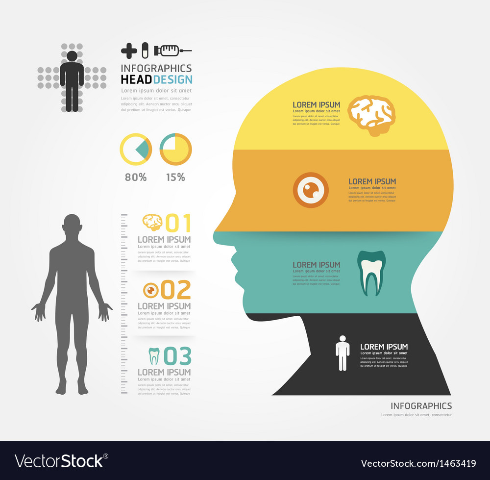 Medical infographic design template vector | Price: 1 Credit (USD $1)