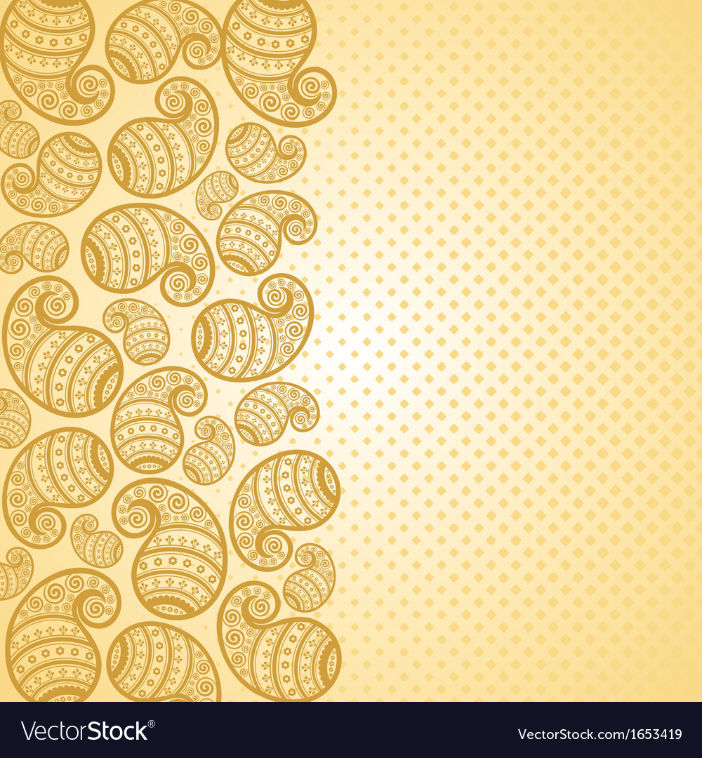 Pattern based on traditional asian element paisley vector | Price: 1 Credit (USD $1)