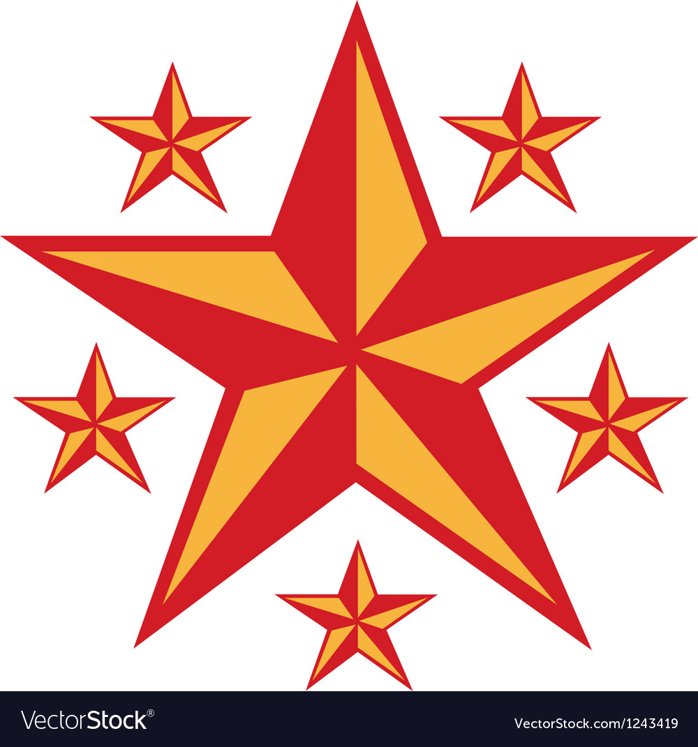 Retro star vector | Price: 1 Credit (USD $1)