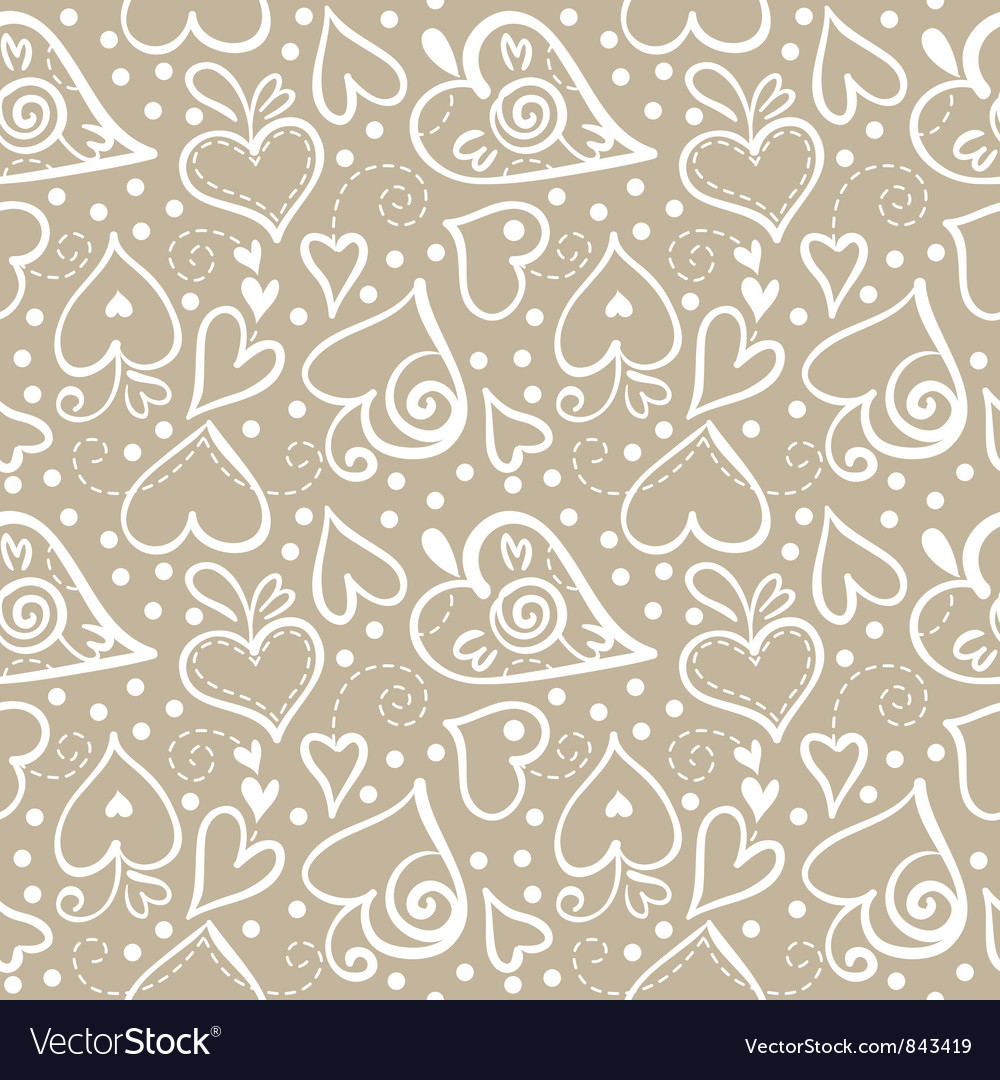 Seamless pattern with abstract hearts vector | Price: 1 Credit (USD $1)