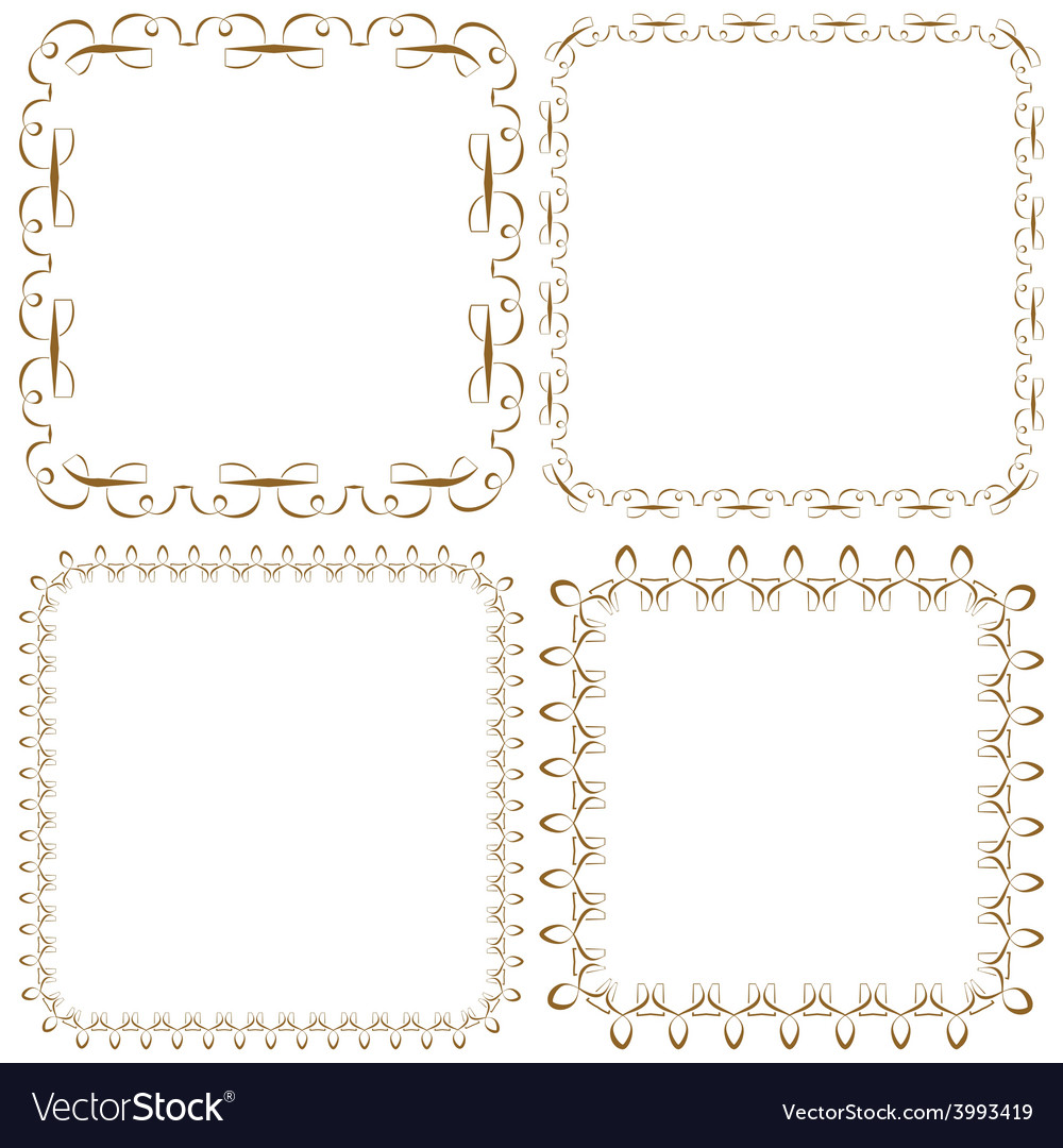 Set of beautiful square frames vector | Price: 1 Credit (USD $1)