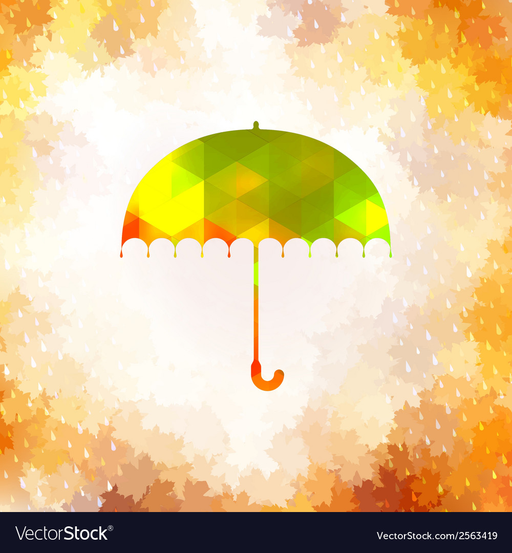Umbrella and rain drops eps 10 vector | Price: 1 Credit (USD $1)