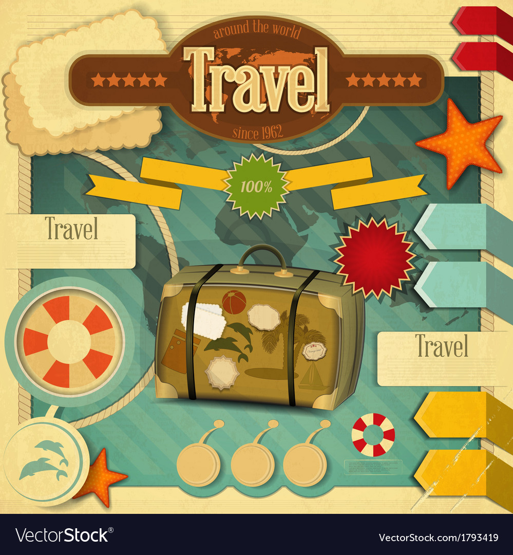 Vacation card vector | Price: 1 Credit (USD $1)