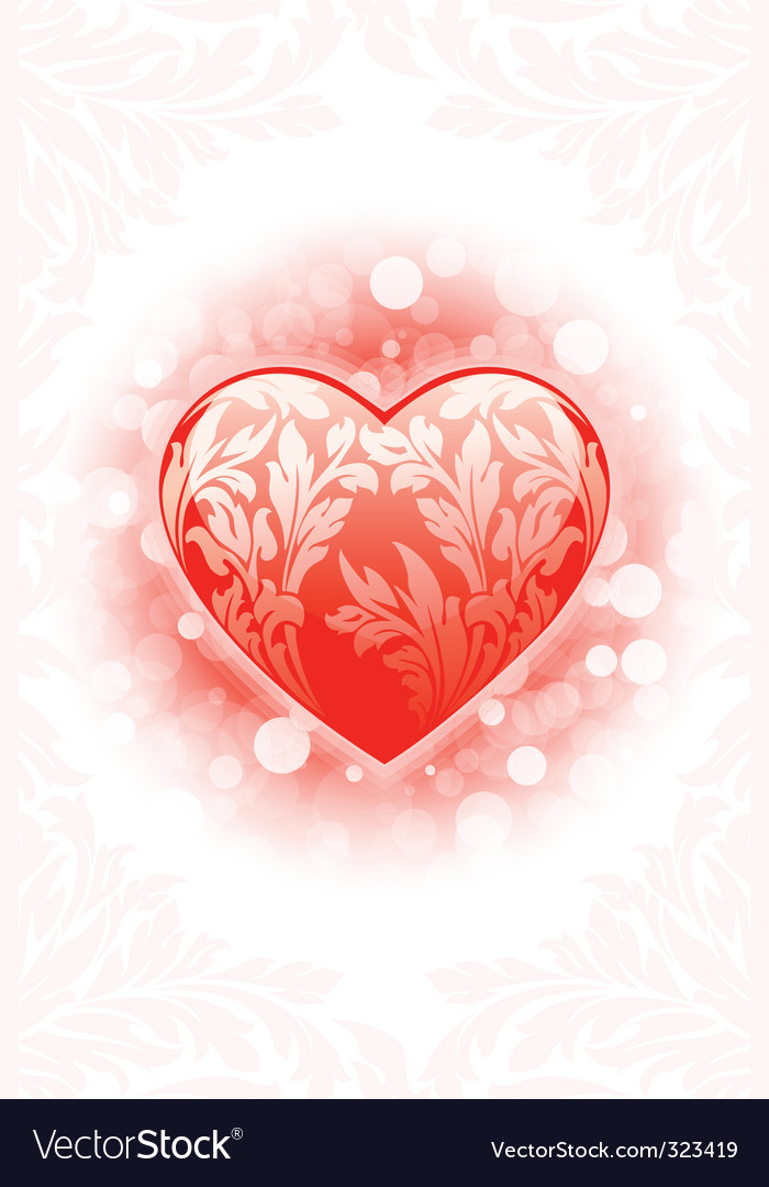 Valentines day heart background vector | Price: 1 Credit (USD $1)