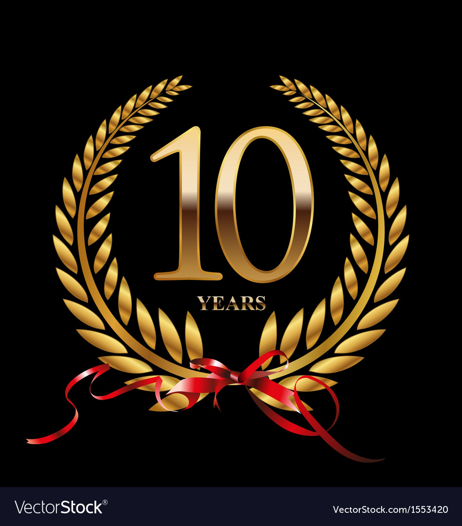 10 years anniversary laurel wreath vector | Price: 1 Credit (USD $1)