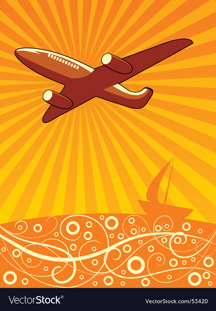 Airline travel vector | Price: 1 Credit (USD $1)
