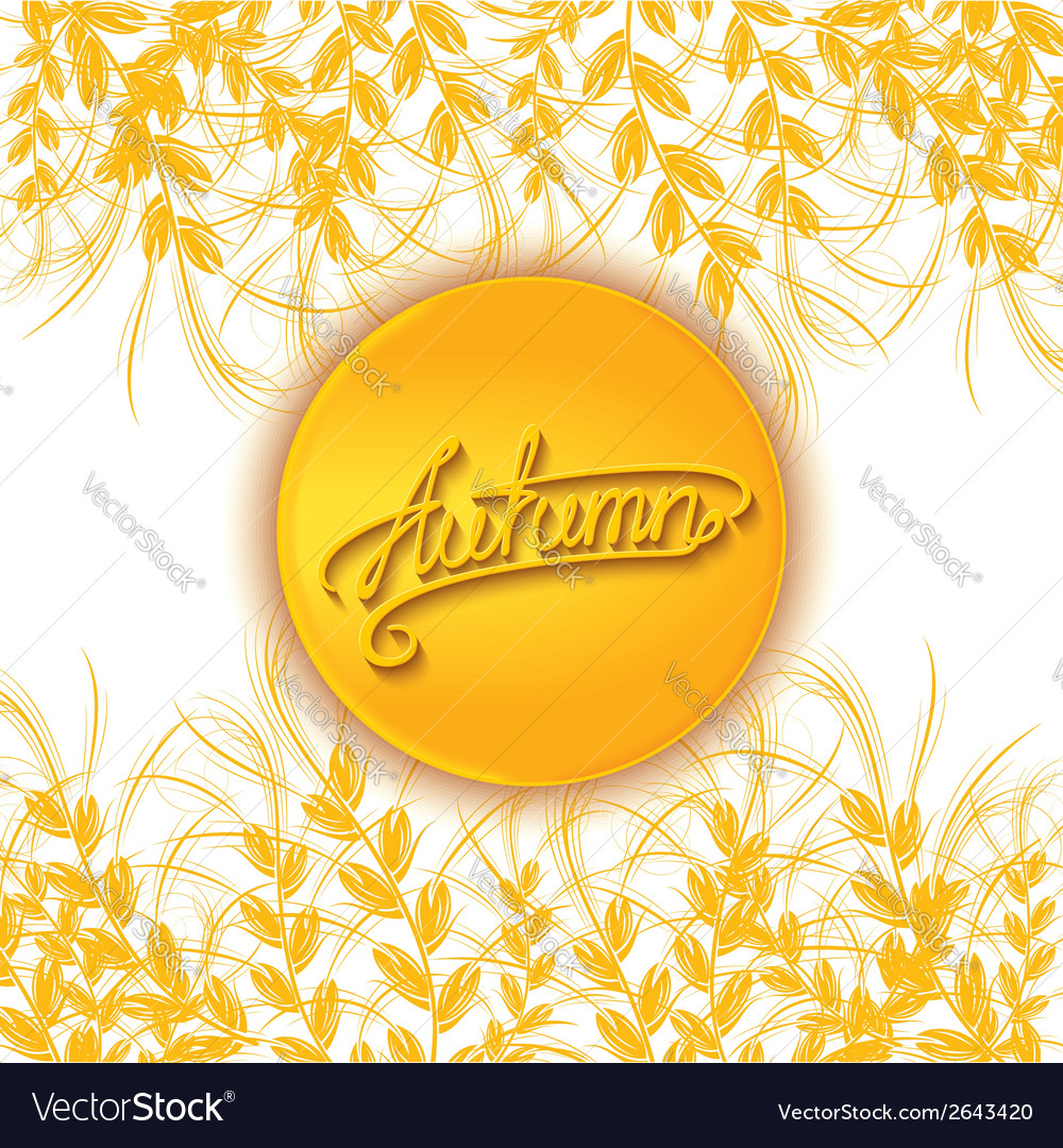 Autumn sun card vector | Price: 1 Credit (USD $1)