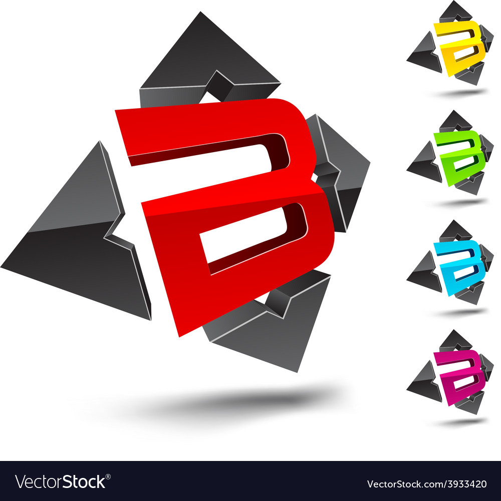 B letter vector | Price: 1 Credit (USD $1)